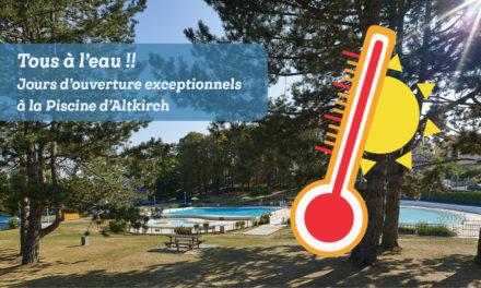 CANICULE : Venez vous rafraîchir à la piscine d'Altkirch – du 24 au 30 juin