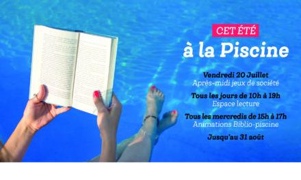 * Le programme des activités de l'été 2018 à la Piscine Municipale *