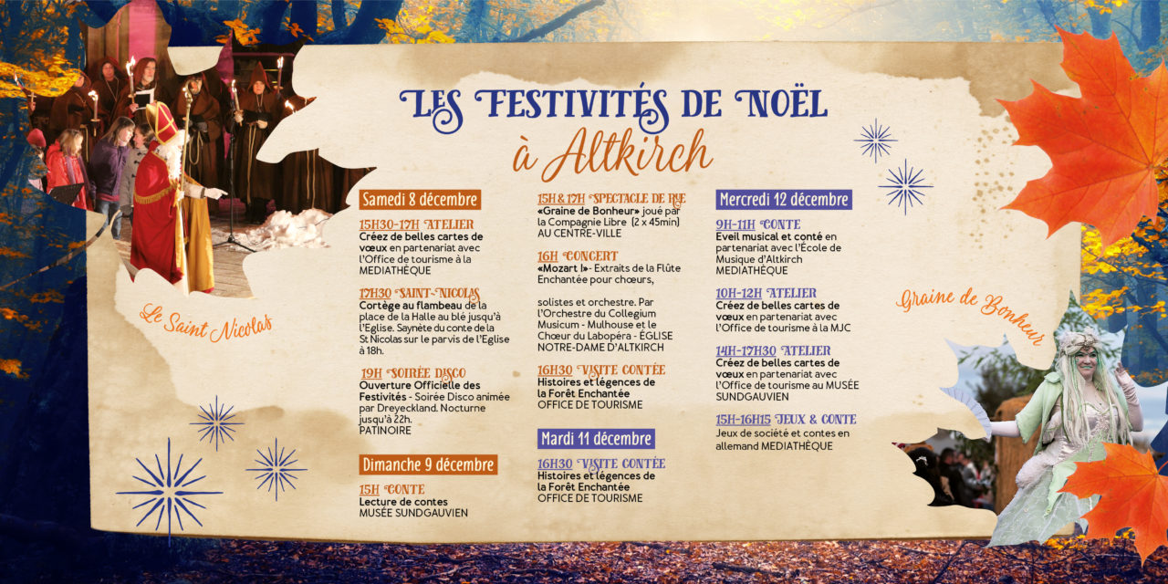 > Du 8 au 12 DÉCEMBRE 2018, Programme : Noël à Altkirch