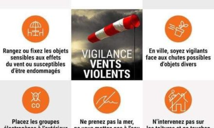 Météo/ Vigilance Orange Vent violent -Lundi 4 mars