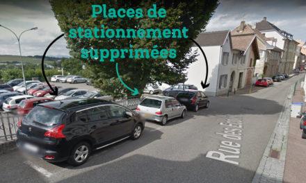 Moins de stationnement pour plus de sécurité Rue des Ecoles