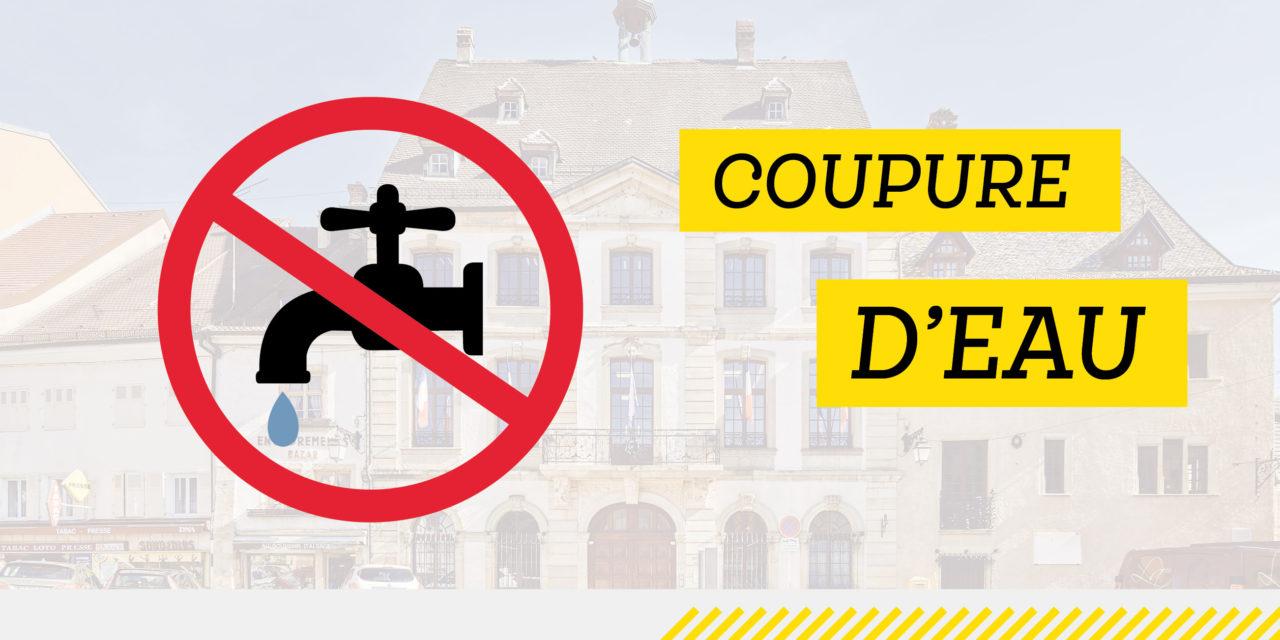 Coupure d'eau du 14 juin 2019 : place de la République et rue Charles de Gaulle