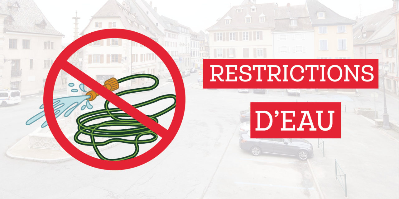 Mesures de restriction d'usage de l'eau de Juillet à Octobre 2019
