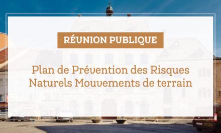 > ME 11 DÉCEMBRE, Réunion publique : Plan de prévention des risques naturels mouvements de terrain