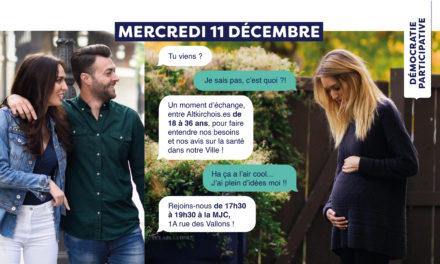 > ME 11 DÉCEMBRE 2019, Le RDV Santé des 18-36 ans