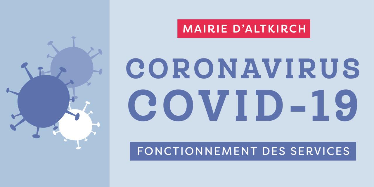 Coronavirus : Fonctionnement des services de la mairie d'Altkirch