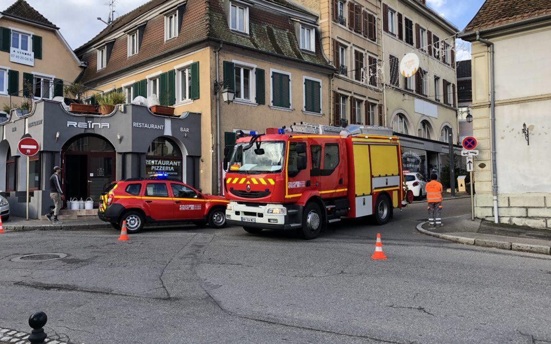 Incident électrique au centre-ville