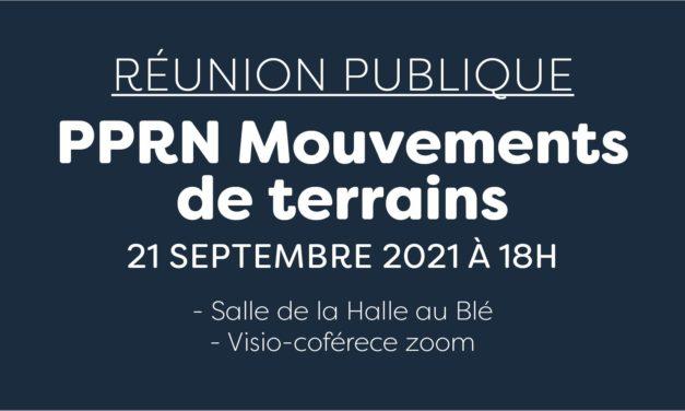 Réunion publique : PPRN Mouvements de terrain
